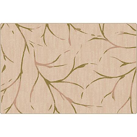 Flagship Carpets Printed Rug, Moreland, 4'H x 6'W, Natural Sage