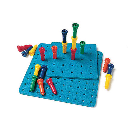 Playmonster Tall-Stacker™ Pegs And Pegboard Set, Grades Pre-K - 2