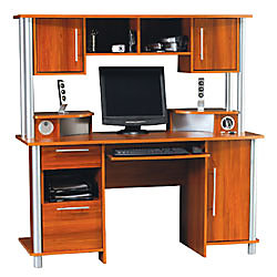 Empire Computer Desk With Hutch And Usb Hub 60 5 8 H X