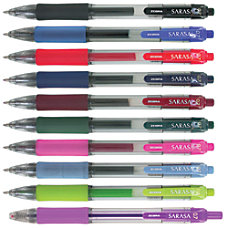 Zebra Sarasa Gel Ink Retractable Pens