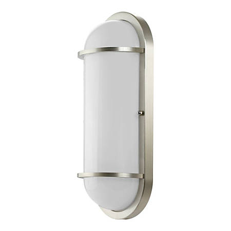 Euri EOL LED Oval Wall Fixture, 12.5 Watts, 3000K, 1000 Lumens, Brushed Nickel