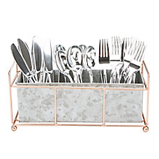 Mind Reader Metal Utensil Holder Tray