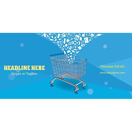 Custom Horizontal Banner, Shopping Cart