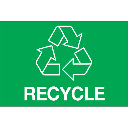 """Tape Logic® Recycle Rectangle Labels, DL1312, 2"""" x 3"""", Green, Roll Of 500"""