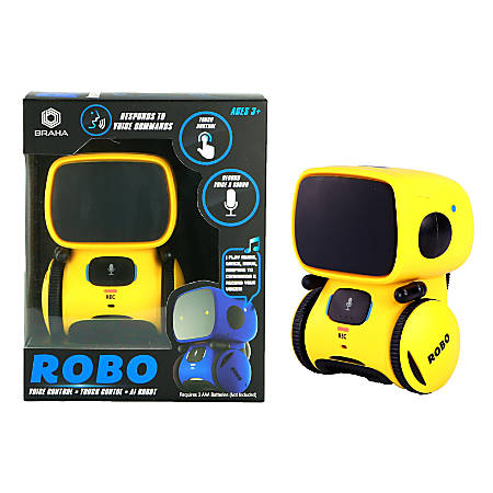Braha ROBO IR Control Interactive Toy Robot, Yellow