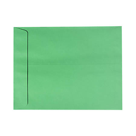 """LUX Open-End Envelopes With Peel & Press Closure, #9 1/2, 9"""" x 12"""", Holiday Green, Pack Of 50"""