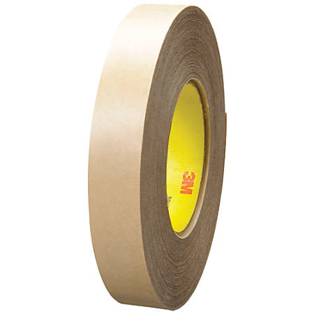 """3M™ 9485PC Adhesive Transfer Tape Hand Rolls, 3"""" Core, 1"""" x 60 Yd., Clear, Case Of 36"""