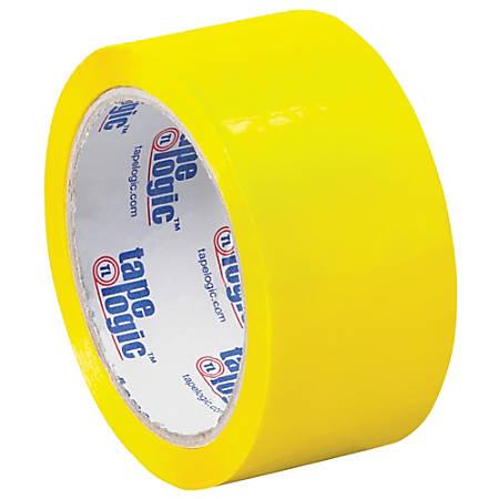 """Tape Logic® Carton-Sealing Tape, 3"""" Core, 2"""" x 55 Yd., Yellow, Pack Of 18"""