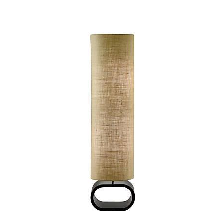 "Adesso® Harmony Floor Lamp, 47""H, Brown Shade/Black Base"