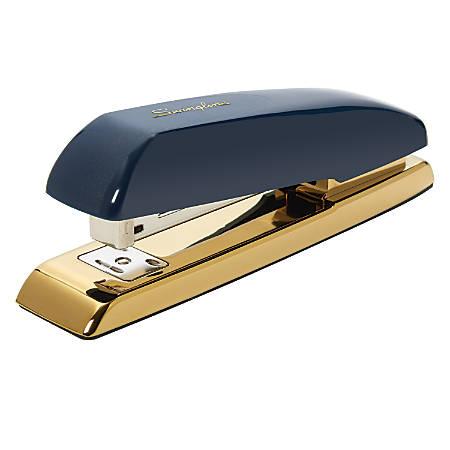 Swingline® Durable Desk Stapler, Navy/Gold