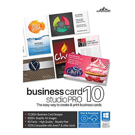 Summitsoft business card studio pro 10 traditional disc by office summitsoft business card studio pro 10 reheart Choice Image