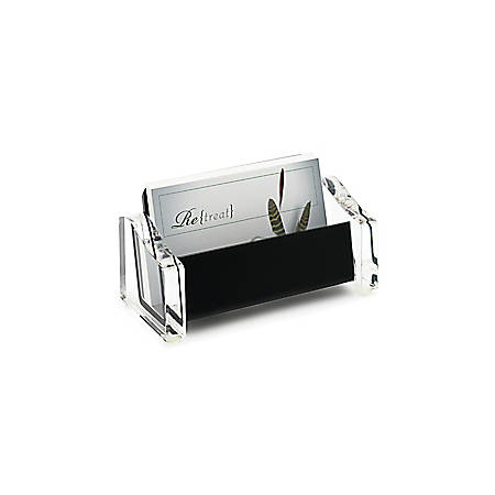 Realspace acrylic business card holder blackclear by office depot realspace acrylic business card holder blackclear colourmoves
