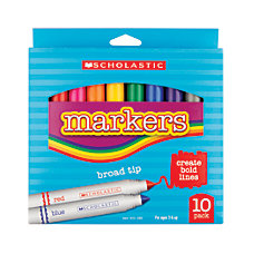Scholastic Markers Broad Tip Assorted Colors