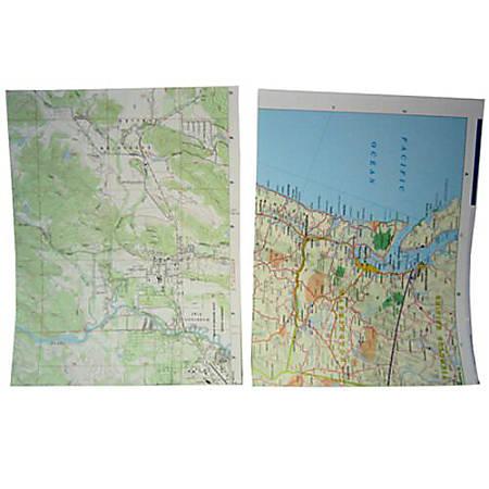 JAM Paper® Printer Paper, Letter Size, 28 Lb, Map Design, Pack Of 50