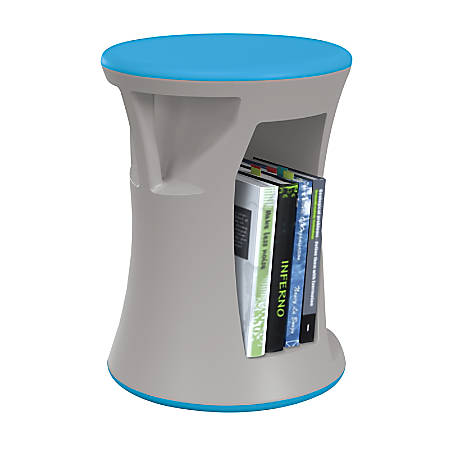 MooreCo Hiearchy Flipz Stacking Rocking Stool, Gray/Blue