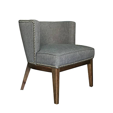 Boss Ava Accent Chair, Medium Gray/Driftwood