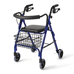 Guardian Deluxe Rollator 6 Wheels Blue