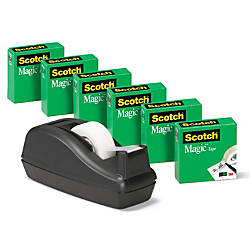Scotch Magic Tape With Deluxe Dispenser