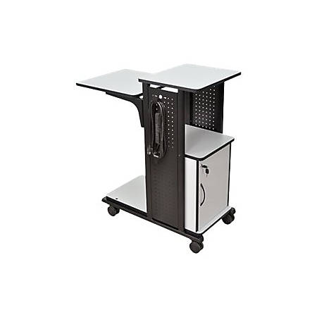 AmpliVox SN3310 - Cart for projector / notebook / document camera - steel - black, gray laminate