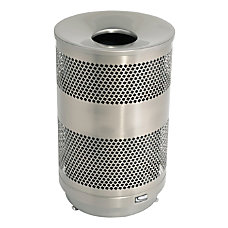 Suncast Commercial Outdoor Perforated Round Stainless