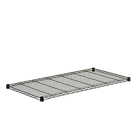 "Honey-Can-Do Powder-Coat Steel Shelf, 350-Lb Capacity, 1""H x 18""W x 48""D, Black"