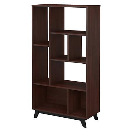 kathy ireland® Office by Bush Business Furniture Centura 8 Shelf Bookcase, Century Walnut, Premium Installation