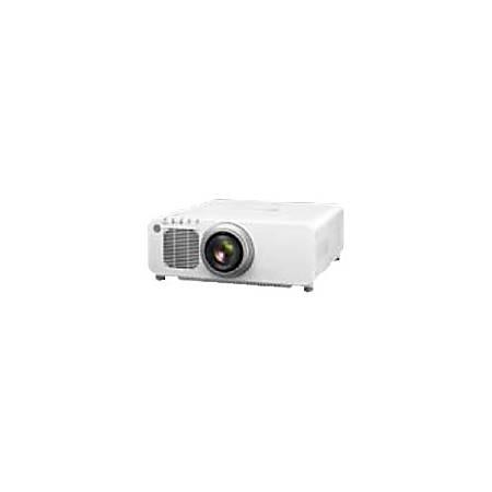 Panasonic PT-DW830UW - DLP projector - UHM - 3D - 8500 lumens - WXGA (1280 x 800) - 16:10 - 720p - zoom lens - LAN