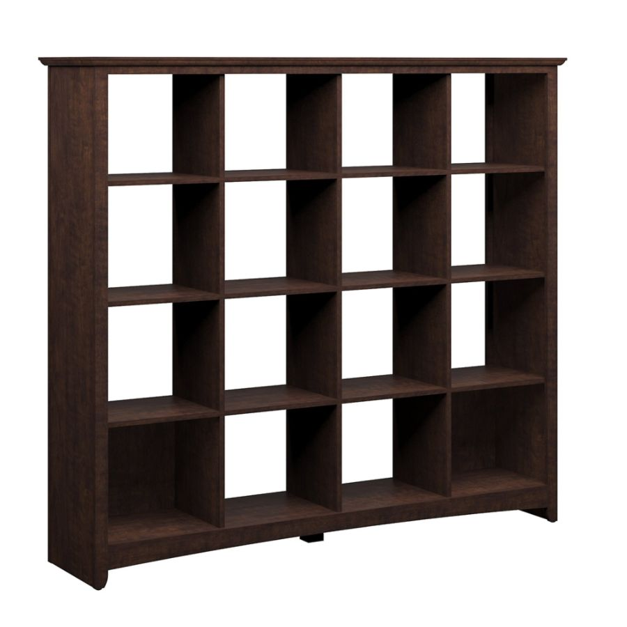 office depot bookcases wood. Bush Furniture Buena Vista 16 Cube Bookcase Madison Cherry Standard Delivery By Office Depot \u0026 OfficeMax Bookcases Wood