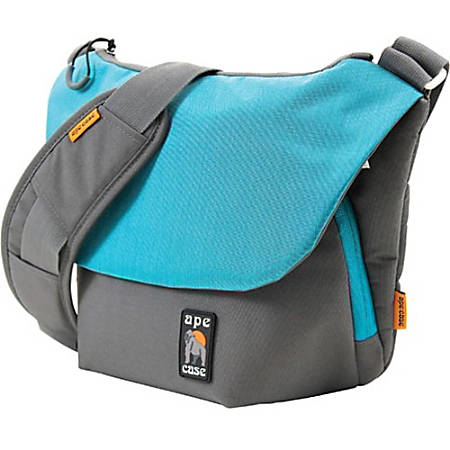 "Ape Case Tech Carrying Case (Messenger) for 7"" to 11"" iPad - Teal, Gray - Scratch Resistant Interior, Weather Resistant Zipper - Shoulder Strap - 10"" Height x 16.5"" Width x 4.5"" Depth"