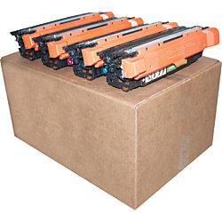 M&A Global CE250A-CMA (HP 504A / CE250A) Remanufactured Black Toner Cartridges, Pack Of 4