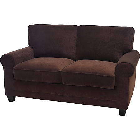 Serta Copenhagen Deep-Seating Loveseat, Brown/Espresso
