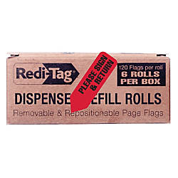 Redi Tag Dispenser Refills Please Sign
