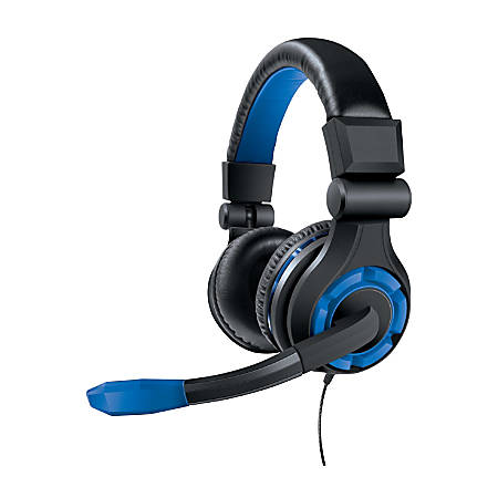 DreamGear PS4 Wired Gaming Headset, Blue, GRX-340