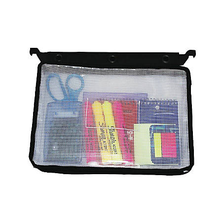 Innovative Storage Designs Infile™ Expanding Zipper Pouch, Black/White