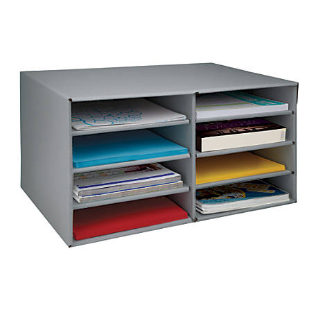"Office Depot® Brand 65% Recycled Literature Sorter, Letter Size, 11 7/8""H x 10""W x 18 7/8""D, Gray"