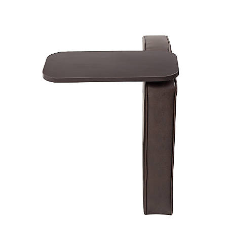 Boss Bomber Tablet Arm For Sectional Sofas, Left Arm, Brown