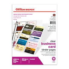 Office Depot Brand Business Card Binder