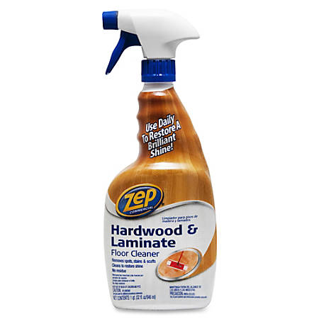 Zep Hardwood & Laminate Floor Cleaner - Spray - 0.25 gal (32 fl oz) - 12 / Carton - Brown