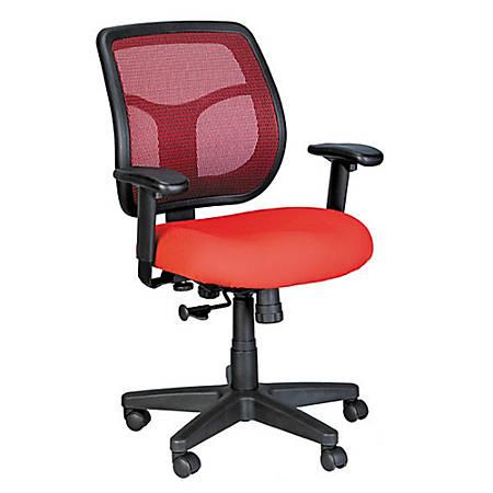 Raynor® Eurotech Apollo Mesh/Fabric Synchro Tilt Task Chair, Red/Black