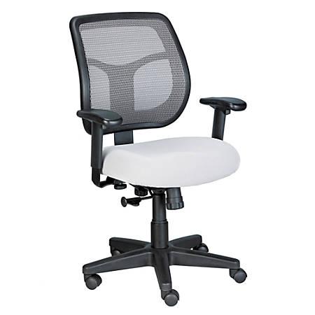 Raynor® Eurotech Apollo Mesh/Fabric Synchro Tilt Task Chair, Silver/Black
