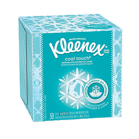 Kleenex® BOUTIQUE™ Cool Touch™ Facial Tissues, 50 Tissues Per Box, Case Of 27 Boxes
