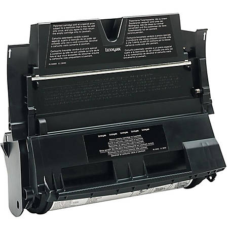 Lexmark™ 12A6839 Return Program High-Yield Black Toner Cartridge For Label Applications