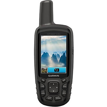 "Garmin GPSMAP 64sc Handheld GPS Navigator - 2.6"" - 65000 Colors - Camera, Barometer, Altimeter, Compass, Flashlight - microSD - Bluetooth - USB - 16 Hour - 160 x 240 - Water Resistant"