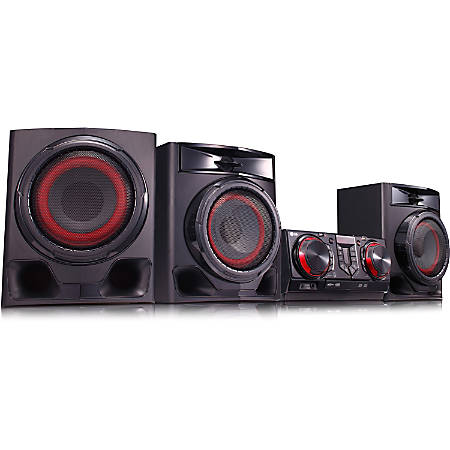 LG CJ45 Mini Hi-Fi System - 720 W RMS - Black - CD Player - 1 Disc(s) - FM, AM - CD-RW - 1440 W PMPO - 2.1 Speaker(s) - CD-DA, MP3, WMA - Bluetooth - USB - Remote Control