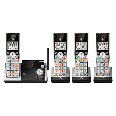 AT&T CL82415 4 Handset DECT 6.0 Cordless Phone with Digital Answering System