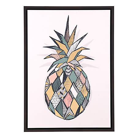 Zuo Modern Pineapple Canvas, Multicolor