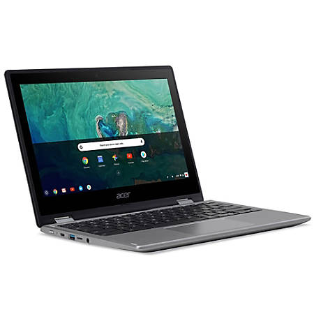 """Acer® Chromebook Spin 11 Refurbished 2-In-1 Laptop, 11.6"""" Touch Screen, Intel® Celeron®, 4GB Memory, 32GB Flash Storage, Google™ Chrome OS, Silver"""