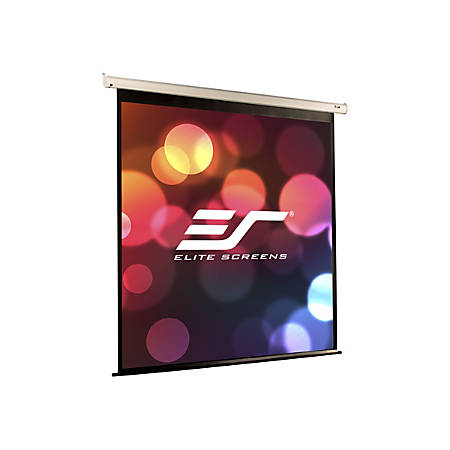 Elite Screens VMAX2 Series VMAX100XWV2-E24 - Projection screen - ceiling mountable, wall mountable - motorized - 100 in (100 in) - 4:3 - MaxWhite - white