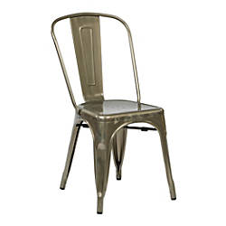Office Star Bristow Armless Chair Gunmetal