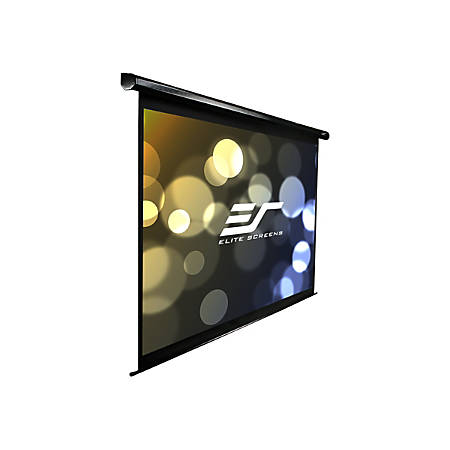 Elite Screens VMAX2 Series VMAX106UWH2-E24 - Projection screen - ceiling mountable, wall mountable - motorized - 106 in (105.9 in) - 16:9 - MaxWhite - black
